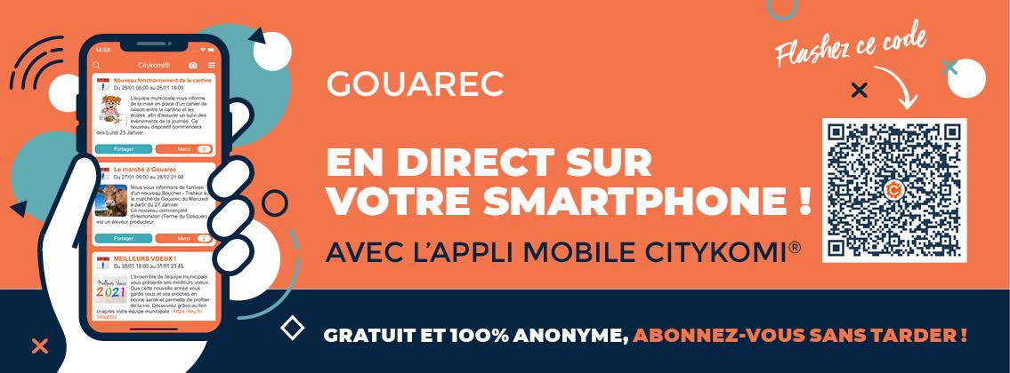 Gouarec en temps réel sur votre mobile ! - CITYKOMI